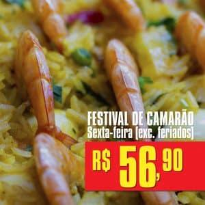 Festival de Camarão, Rodízio de Carnes e Comida Japonesa   Sexta-Feira (exc. feriados)